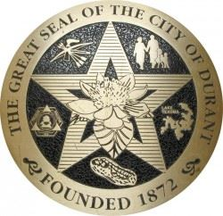 The Great Seal of the City of Durant - Founded 1872